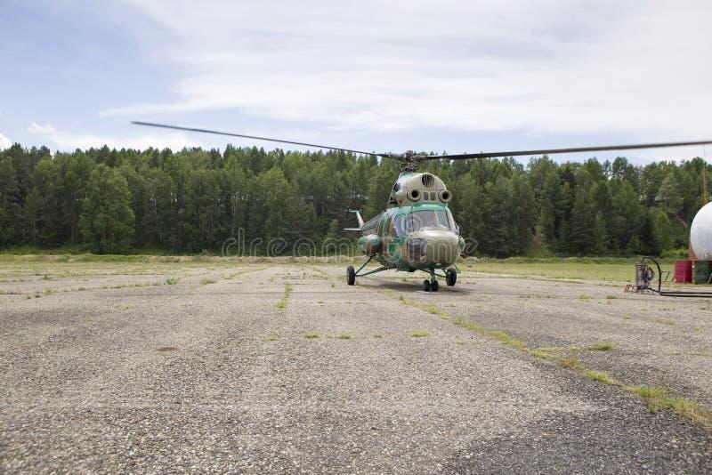 Взгляд от арены вертолета стоковое изображение rf