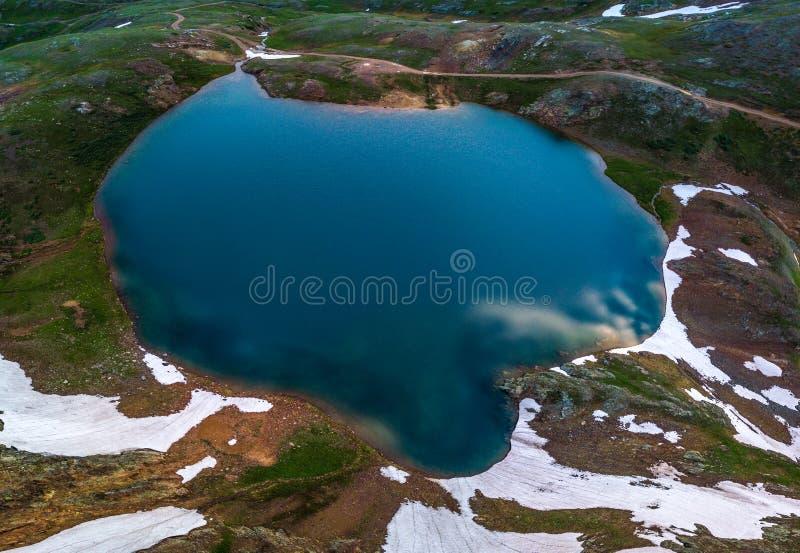 Взгляд от верхней части - пропуск Como Колорадо озера Poughkeepsie, Сан Ju стоковое фото rf