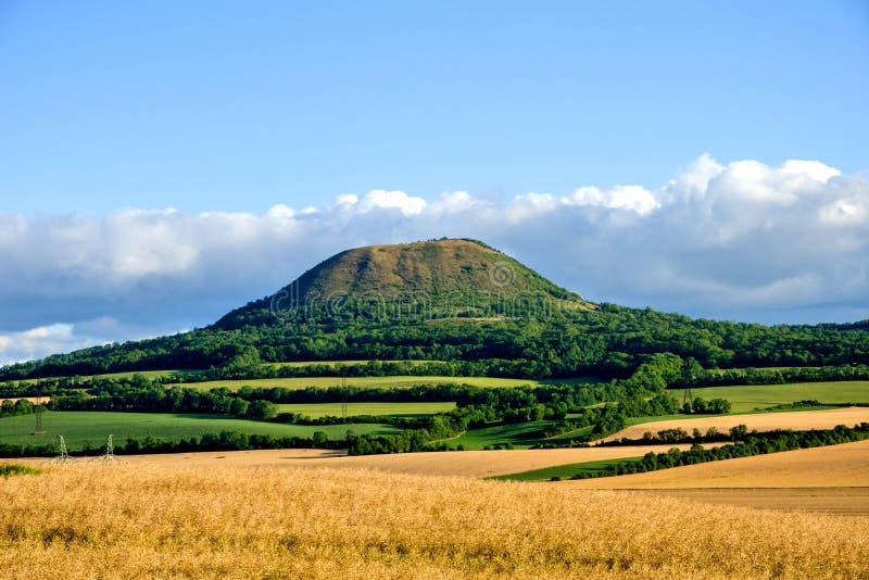 Взгляд от вершины холма Oblik стоковая фотография rf