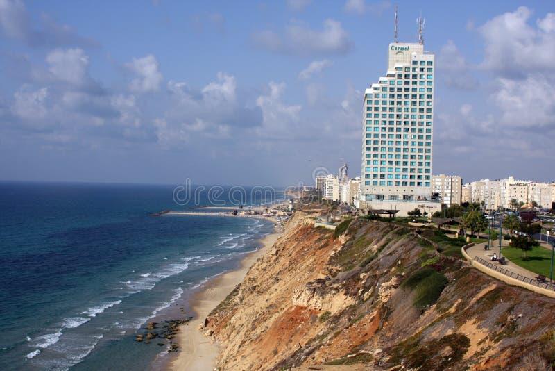 Взгляд от воздуха к пляжу стоковые фотографии rf