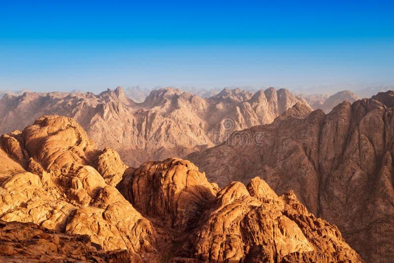 Взгляд от горы Синай, Египет стоковые изображения rf