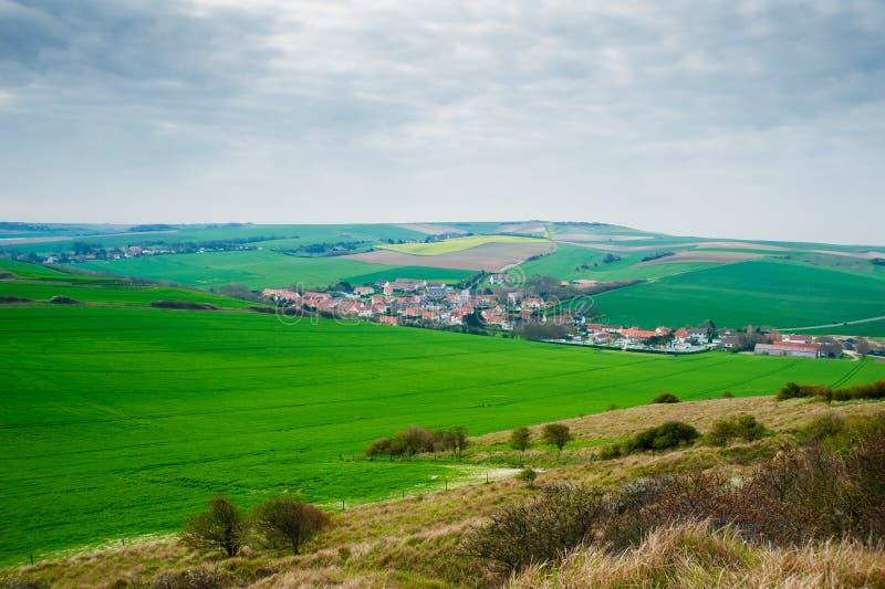 Взгляд от крышки Blanc Nez стоковое фото rf