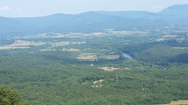 Взгляд от национального леса Джорджа Вашингтона стоковые фотографии rf