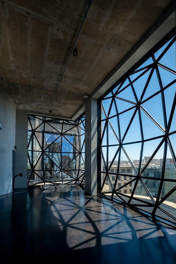 Взгляд от последнего этажа музея Zeitz Mocaa современного искусства Африки стоковая фотография