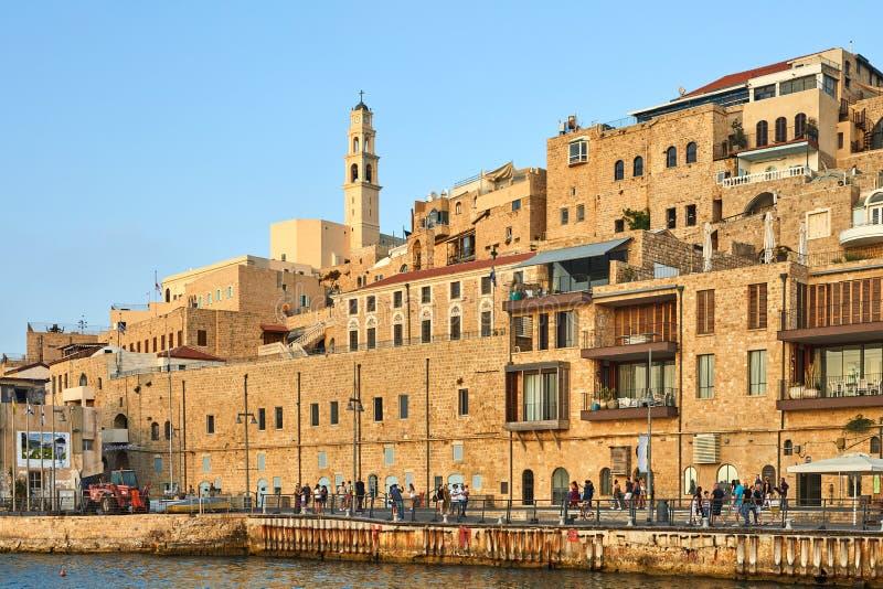 Взгляд от пристани на старой Яффе стоковая фотография rf