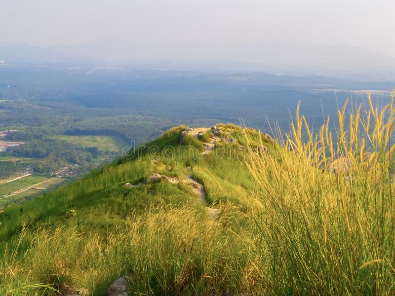 Взгляд от холма Broga, Semenyih стоковые фотографии rf