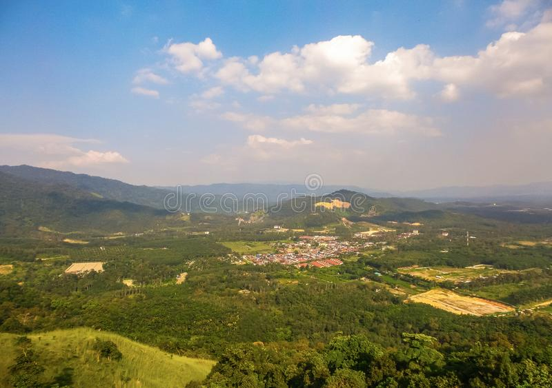 Взгляд от холма Broga, Semenyih стоковое фото