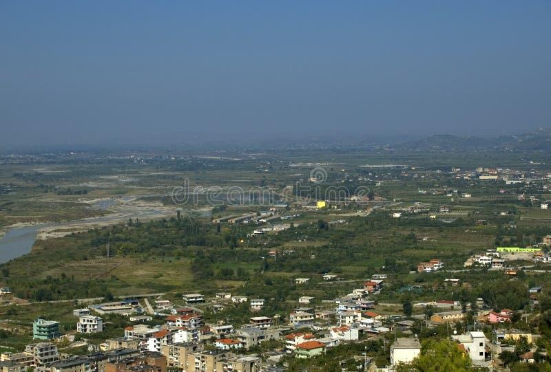 Взгляд от цитадели, Berati, Албания стоковые изображения rf