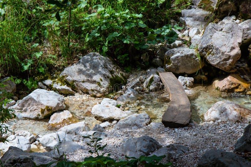 Взгляд падений Rinka в долину Logar, Словению стоковые фотографии rf
