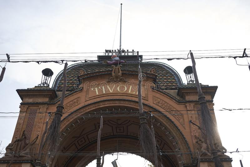 Взгляд парадного входа сада tivoli стоковое фото