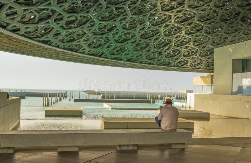 Взгляд Персидского залива от жалюзи Абу-Даби, Абу-Даби стоковые фотографии rf