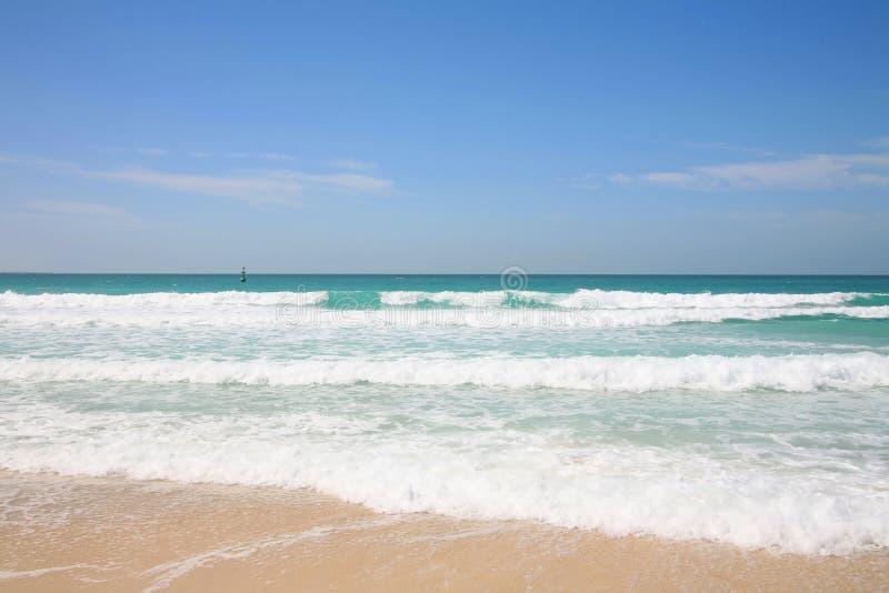 взгляд персиянки залива пляжа стоковые изображения rf