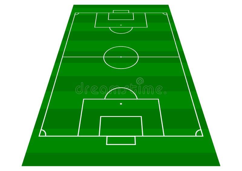 Взгляд перспективы тангажа футбола стоковое изображение rf