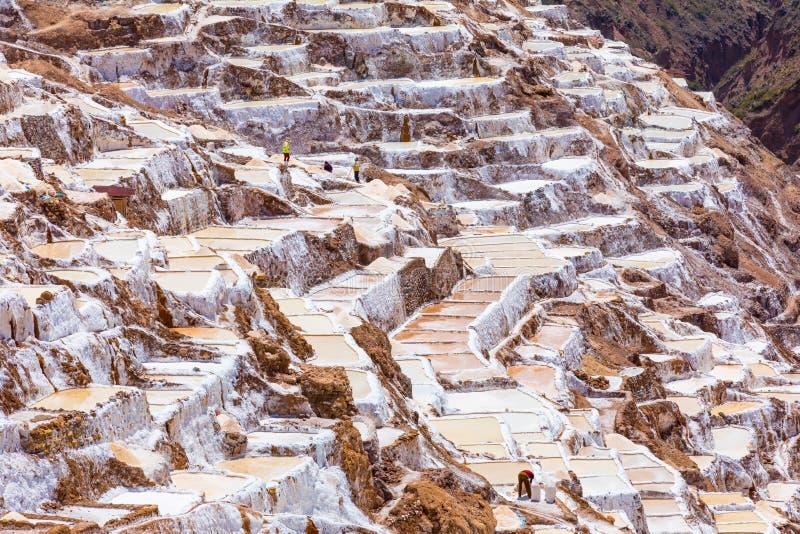 Взгляд Перу террасной мурены варницы панорамный стоковые изображения rf