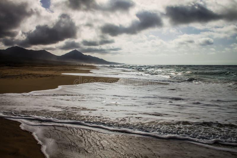 Взгляд пляжа Cofete стоковые фото