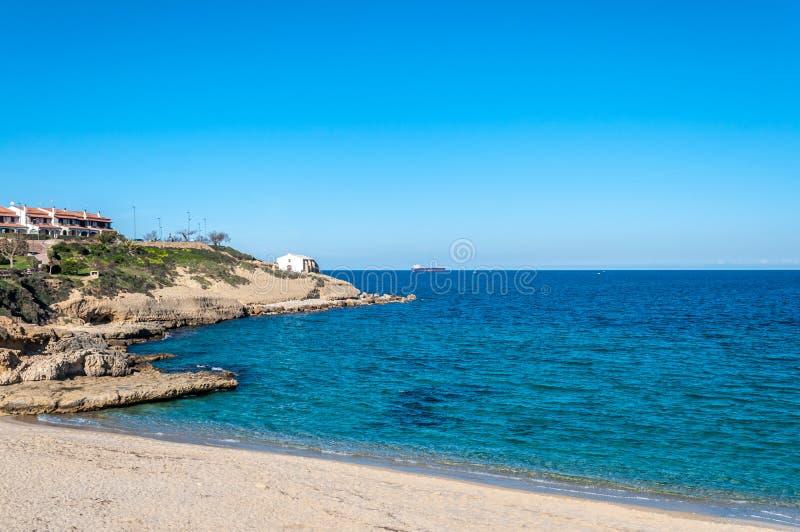 Взгляд побережья внутри города стоковая фотография