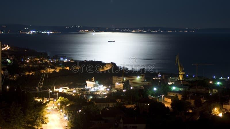взгляд полночи kvarner залива стоковые изображения rf