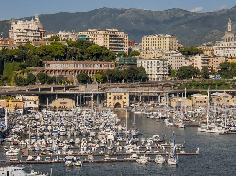 Взгляд порта Генуи стоковая фотография
