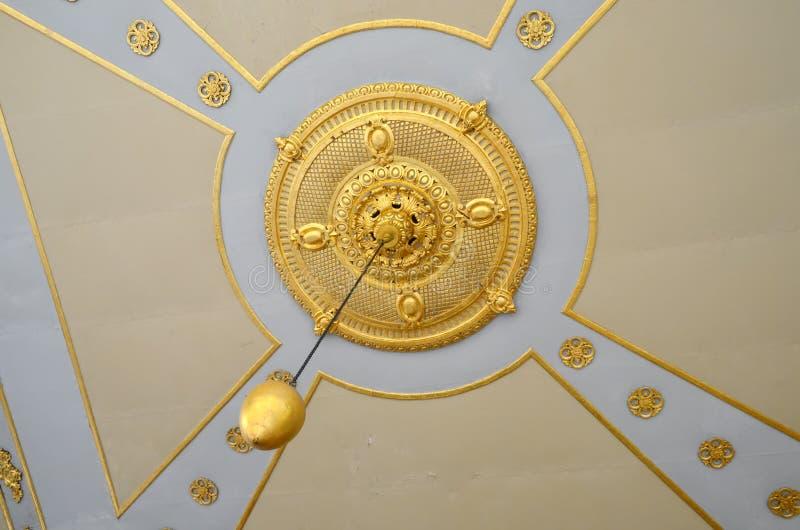 Взгляд потолка на дворце Топкапы, большом назначении музея стоковые изображения