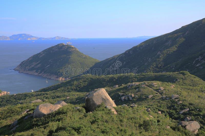 взгляд природы Шани Kok Ling, острова Lamma стоковые изображения