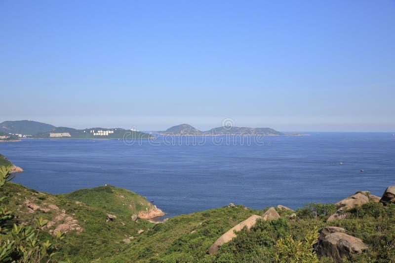 взгляд природы Шани Kok Ling, острова Lamma стоковое фото rf