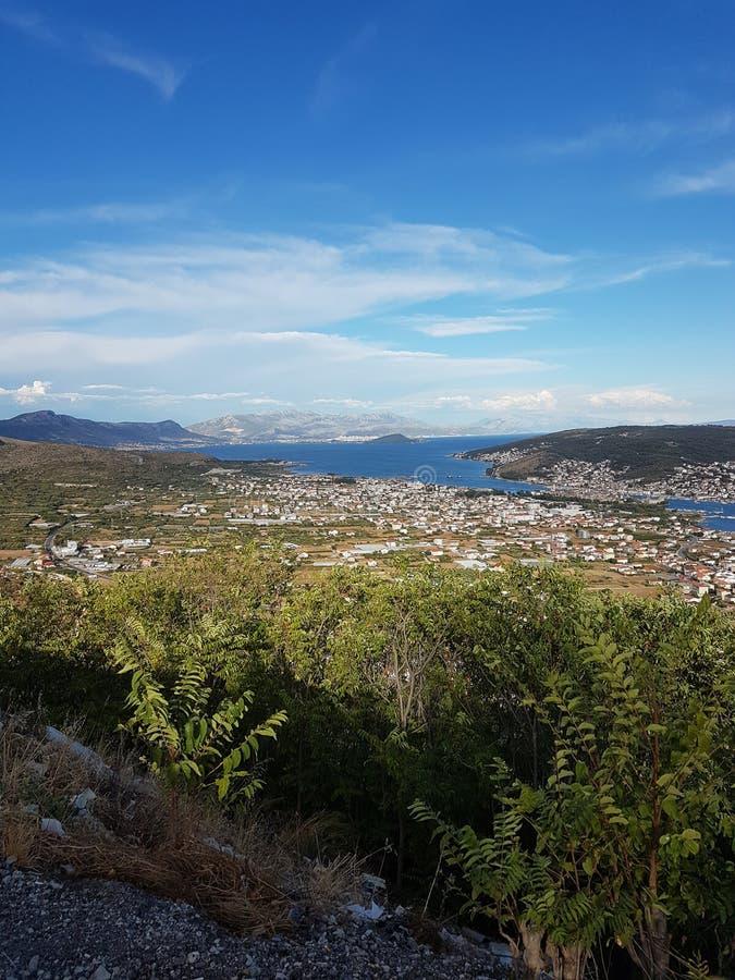 Взгляд разделения, Хорватии стоковое изображение rf