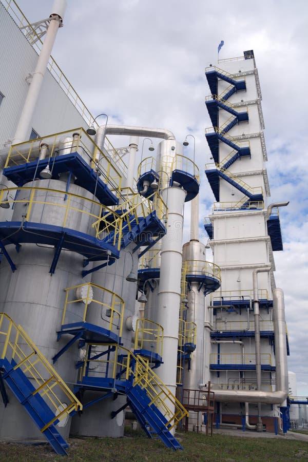 взгляд разъединения завода воздуха криогенный внешний стоковое изображение