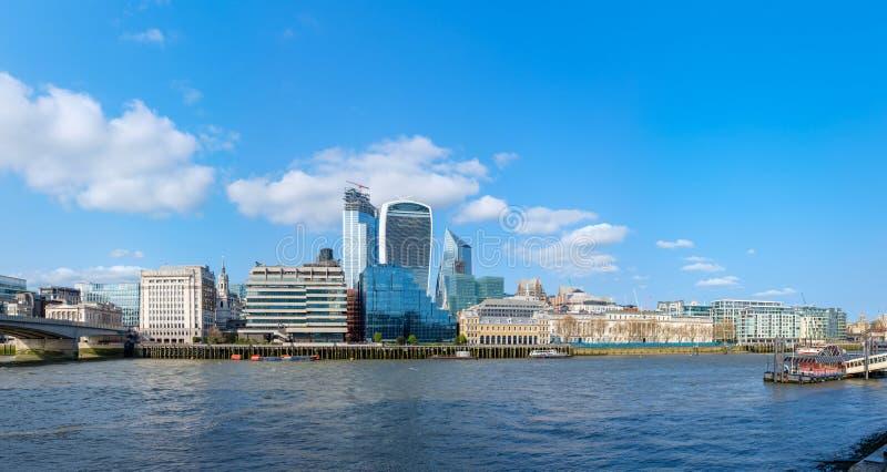 Взгляд района Лондона финансового стоковое фото rf