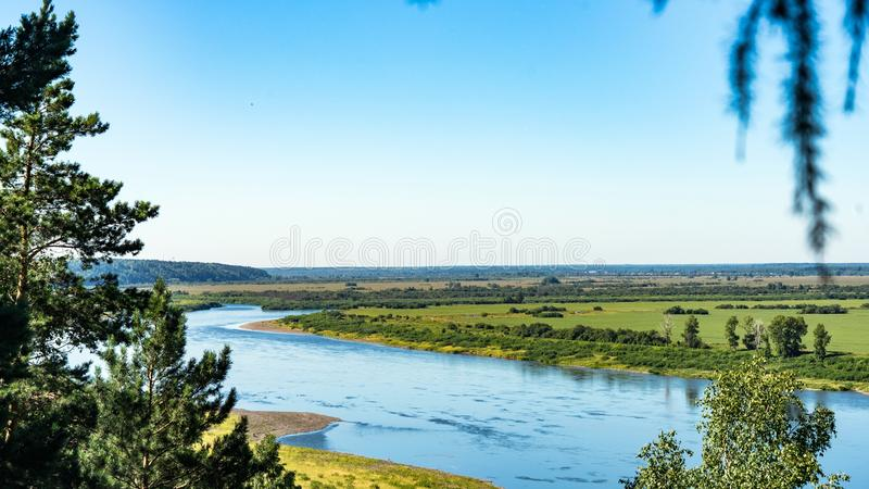 Взгляд реки Том tomsk Россия стоковое изображение