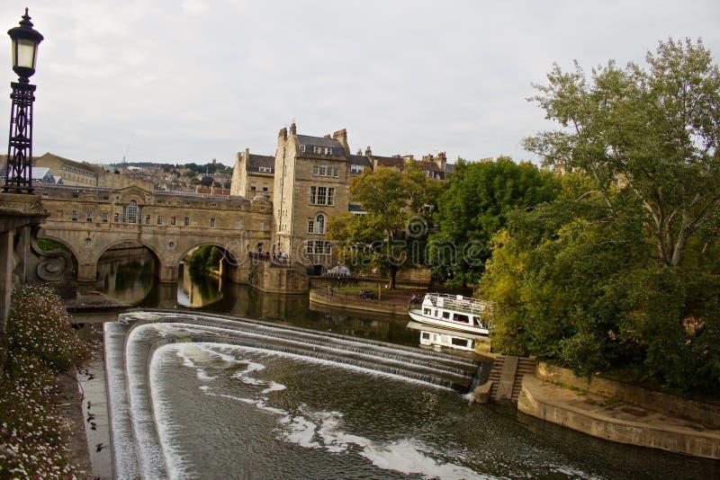Взгляд реки Эвона бежать через ванну стоковые изображения
