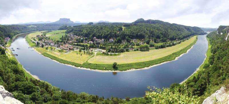 взгляд реки elbe Германии bastei стоковая фотография rf