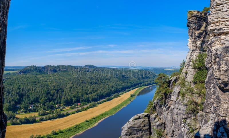 Взгляд реки Labe сверху стоковое изображение rf