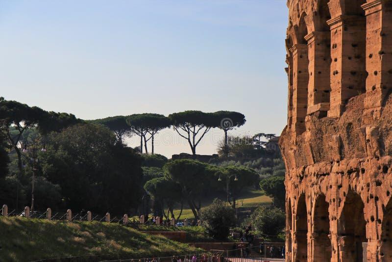 Взгляд Рима, Италии - Colosseum стоковые фотографии rf