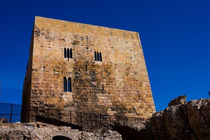 Взгляд римской башни Pretori стоковое изображение rf