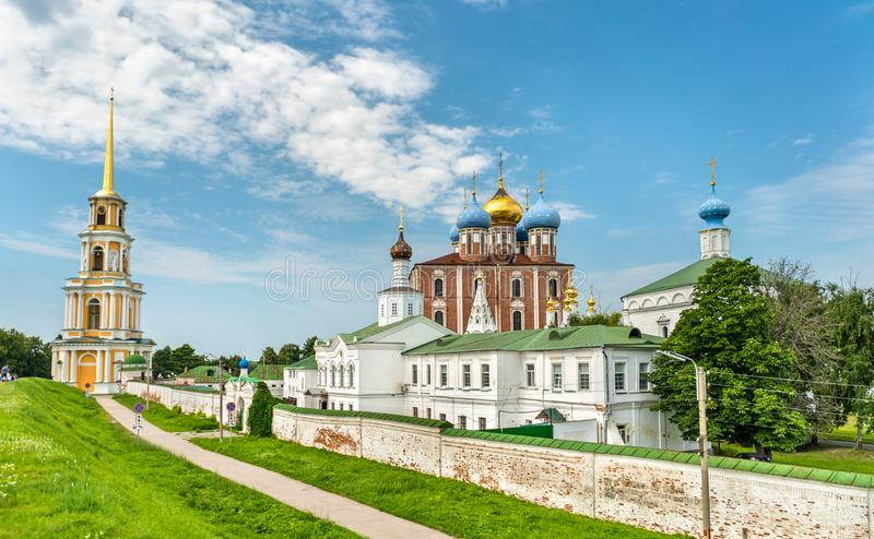 Взгляд Рязани Кремля в России стоковые изображения rf