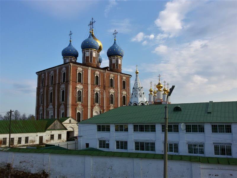 Взгляд Рязани Кремля, золотого кольца России стоковая фотография