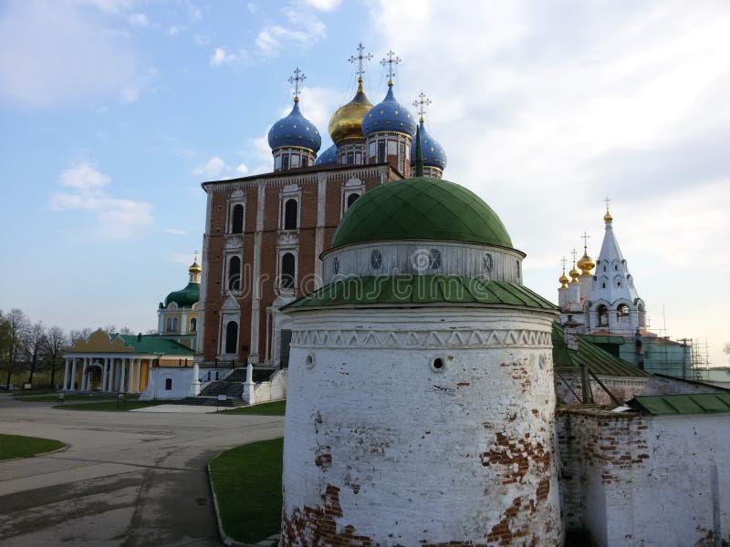 Взгляд Рязани Кремля, золотого кольца России стоковые изображения rf