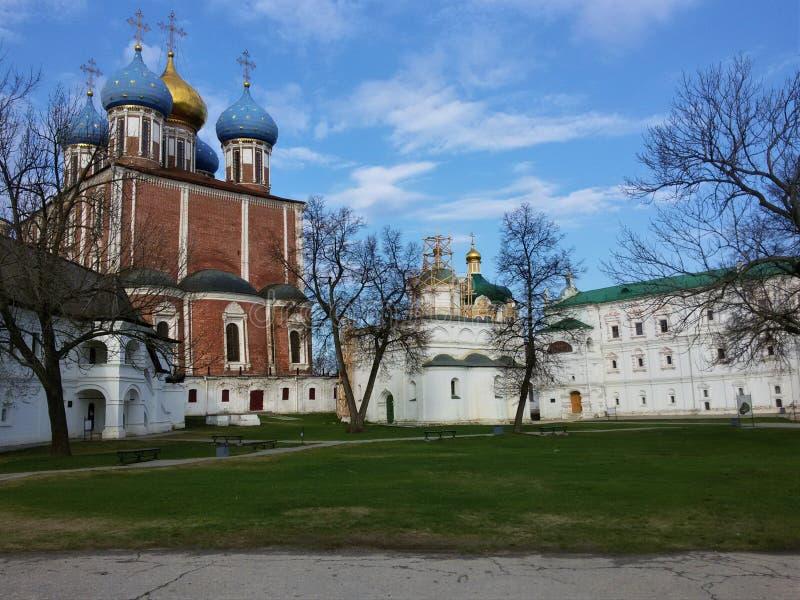 Взгляд Рязани Кремля, золотого кольца России стоковые фотографии rf