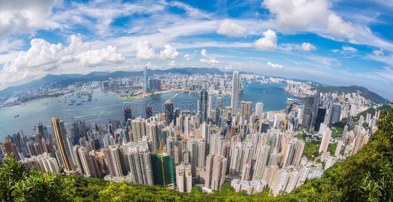 Взгляд сверху города Гонконга стоковое изображение rf