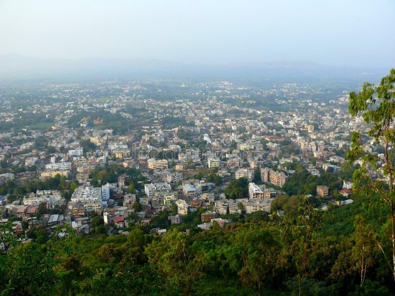 взгляд сверху города стоковая фотография rf