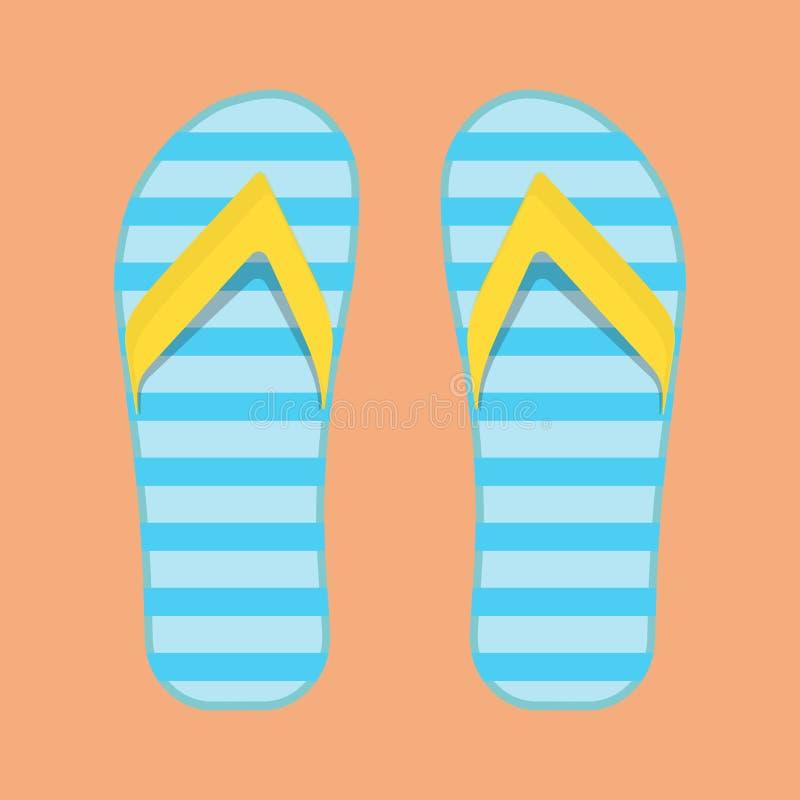 Взгляд сверху значка вектора ноги сандалии праздника пляжа темпового сальто сальто Перемещение пар ботинка моды установленное Наш иллюстрация вектора