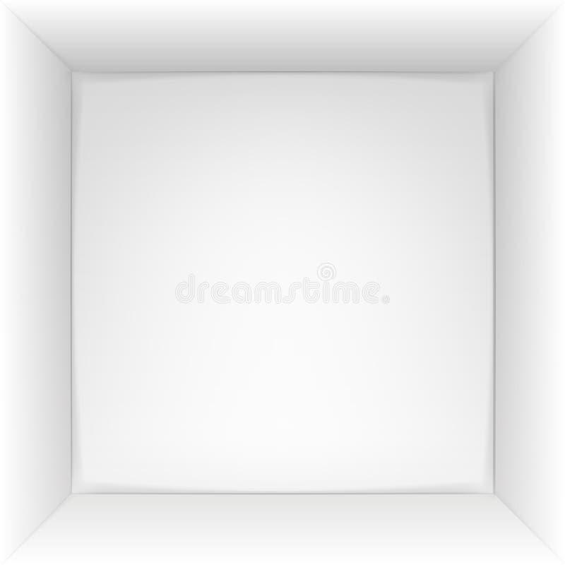 Взгляд сверху коробки 3d также вектор иллюстрации притяжки corel иллюстрация вектора