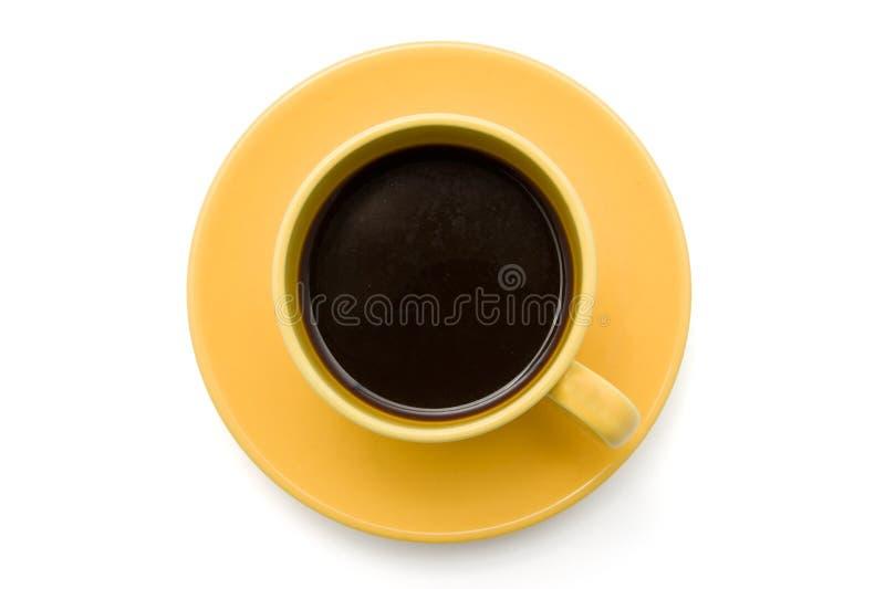 взгляд сверху кофейной чашки изолированный стоковое изображение rf