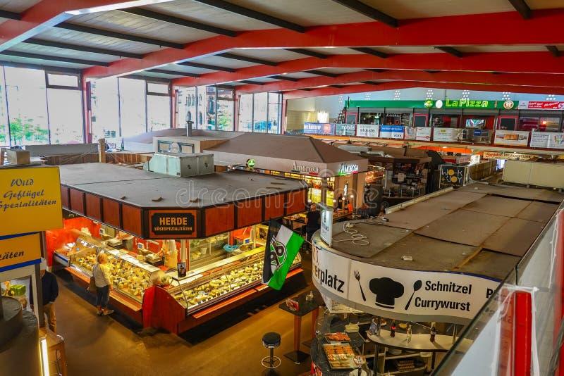 Взгляд сверху к восточной части Markthalle Ганновер стоковое фото