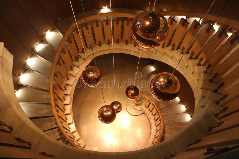 Взгляд сверху лестницы на ` Yquem замка d, Франции стоковые изображения rf