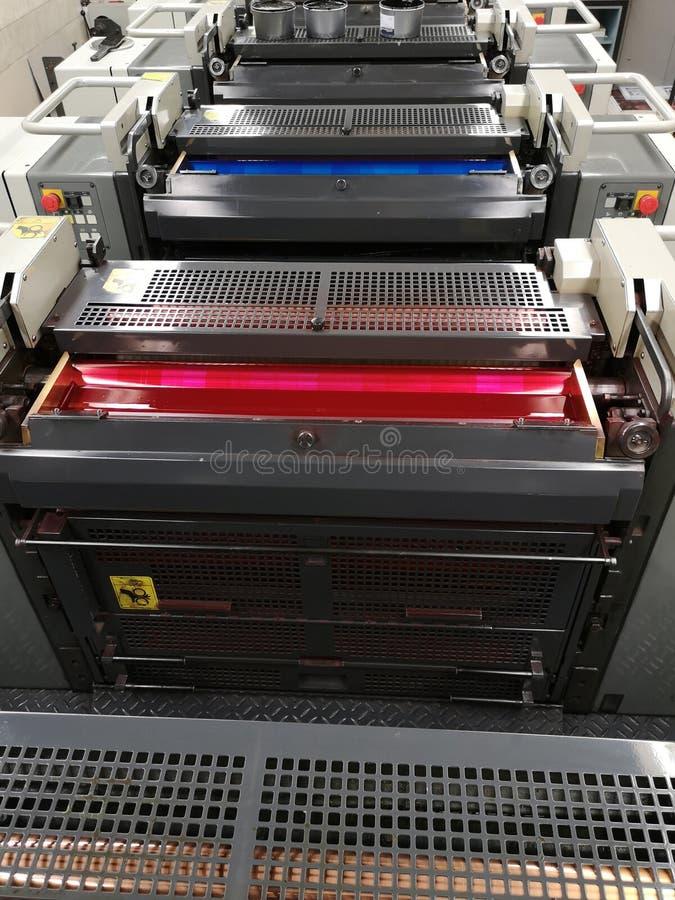 Взгляд сверху печатного станка стоковая фотография