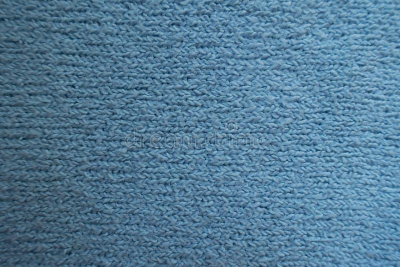 Взгляд сверху простой голубой ткани стоковые фотографии rf