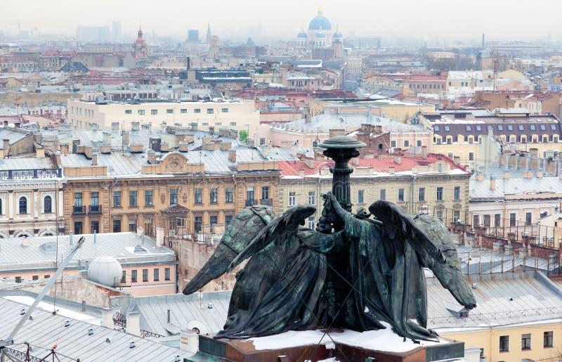 Взгляд сверху Санкт-Петербурга стоковое изображение