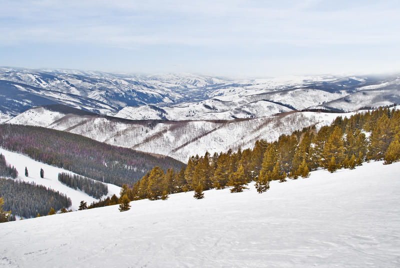 взгляд сверху снежка горы стоковые изображения rf