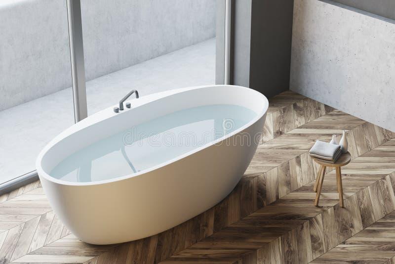 Взгляд сверху современного угла ванной комнаты бесплатная иллюстрация
